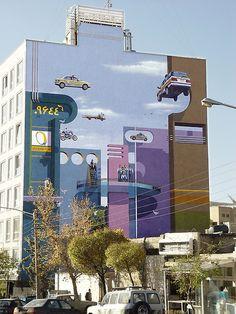 Cool murals in Tehran by Mehdi Ghadyanloo