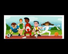 Los doodles de los juegos olimpicos - can have students guess the sport in Spanish, create their own, etc
