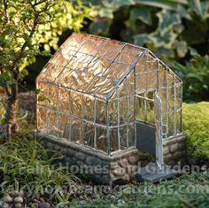 Fairy Homes and Gardens - Fairy Garden Greenhouse, $48.39 (http://www.fairyhomesandgardens.com/fairy-garden-greenhouse/)