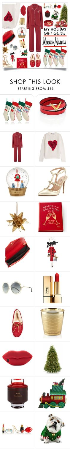 """The Holiday Wish List With Neiman Marcus: Contest Entry"" by maris-go-round ❤ liked on Polyvore featuring Neiman Marcus, Jonathan Adler, Valentino, Wildfox, Lanvin, Nordstrom, Soffieria de Carlini, Chloé, Yves Saint Laurent and Nest Fragrances"