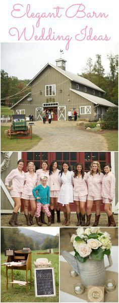 Wedding ideas for an elegant barn style wedding.