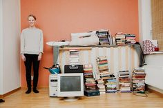 Photos of young people with everything they own.