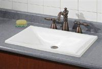 White Rectangular Drop In 20 In To 24 In 24 In To 30 In Drop In Bathroom Sinks | Lowe's Canada
