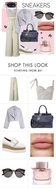 """""""sneakers II"""" by milusart ❤ liked on Polyvore featuring Rosie Assoulin, Zimmermann, rag & bone, Illesteva and Burberry"""