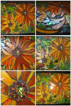 Mexican sunflowers by Poppins Mosaics and Crafts, via Flickr