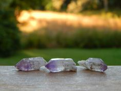 Brandberg Amethyst points from Namibia, Africa. Make sure to stop by www.ChicagoGemShop.com and make an account to start earning Brilliance points!