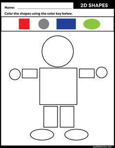 These FREE printable worksheets for kids are great for practicing spatial concepts! These shapes worksheets can be used as homework, bell-ringer activity, or warm-up activity. Fun things to do with your kindergarten or grade 1 students! Preschool Poems, Senses Preschool, Letter Worksheets For Preschool, Preschool Writing, Kindergarten Math Worksheets, Preschool Learning Activities, Writing Activities, Printable Worksheets, Free Printable