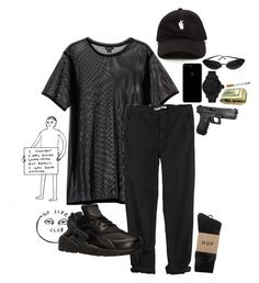 """105"" by avesatan-z ❤ liked on Polyvore featuring Monki, GG 750, NIKE, Tsovet, Chanel and HUF"