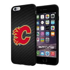 """Calgary Flames Carbon Fiber Design #1714 iPhone 6 Plus (5.5"""") I6+ Case Protection Scratch Proof Soft Case Cover Protector SURIYAN http://www.amazon.com/dp/B00X4KEWFW/ref=cm_sw_r_pi_dp_TBiwvb1XAXHHH"""