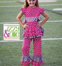 Gameday Prep Ellie Pinafore Ruffle Arkansas Razorbacks Boutique Children's Clothing and Accessories perfect for football tailgating! Woo pig!