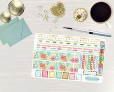Pinning so I don't forget!! Remember to go back and check out Crafted By Corley on Etsy. Bright Bouquet - Transform My Planner Erin Condren Horizontal Life Planner Sticker Sticker Set Weekly View Sticker Horizontal Planner by CraftedByCorley