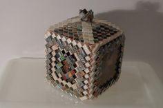 Folded Paper Treasure Box  | Tramp Art, Hobo Art, Prison Art
