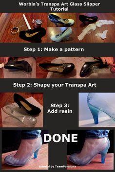 Increíbles zapatos de Elsa (Frozen) hechos con Worbla's Transpa Art por Team Paraluna Cosplay --- Visita www.worbla.cl para adquirir los productos Worbla en América Latina
