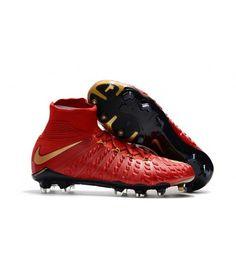 cc39576624a Nike Hypervenom Phantom III DF FG PEVNÝ POVRCH červená zlato černá kopačky. Soccer  Cleats ...