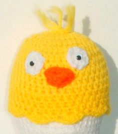 Check out this item in my Etsy shop https://www.etsy.com/listing/179227664/baby-bird-yellow-chick-beanie-crocheted