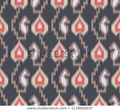 Find tribal and ikat pattern on navy Stock Vectors and millions of other royalty-free stock photos, illustrations, and vectors in the Shutterstock collection. Thousands of new, high-quality images added every day. Ikat Pattern, Textile Patterns, Textile Prints, Print Patterns, Elephant Tapestry, Graph Paper Art, Fancy Blouse Designs, Feather Art, Ikat Print
