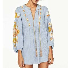 Fashion 2017 Summer Women Embroidery Plaid Shirt Dress Lace Up V Neck Lantern Sleeve Mini Dress Plus Size brand vestido BBWM7063