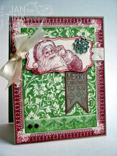 Santa's List & Ex Libris by JanTInk - Cards and Paper Crafts at Splitcoaststampers