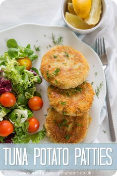 Crispy on the outside and smooth on the inside, these Tuna Potato Patties are the perfect way to use up some cupboard staples for a quick, easy and delicious lunch! #tuna #potato #patties | www.dontgobaconmyheart.co.uk