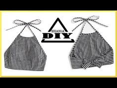 diy sewing clothes How to make a Gingham Crop Top Sewing Tutorials, Sewing Crafts, Sewing Projects, Sewing Patterns, Clothes Patterns, Fashion Sewing, Diy Fashion, Ideias Fashion, Fashion Brands