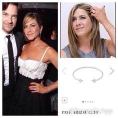 Jennifer Aniston avec le bracelet pavé Arrow www.stelladot.fr/karinec