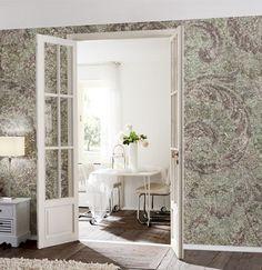 mustertapete perlmutt ornament design vliestapete. Black Bedroom Furniture Sets. Home Design Ideas