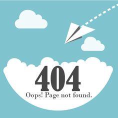 Web template 404 Error page