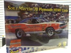 Revell 1/25 Sox & Martin '70 Plymouth 'CUDA  1/25th  Model Kit 2014 Release #Revell