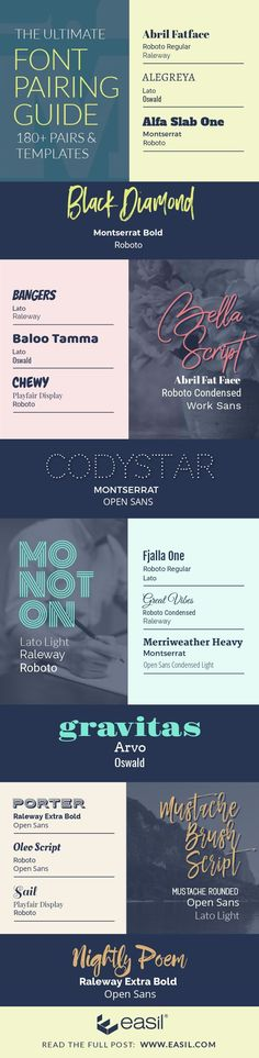 The Ultimate Free Font Pairing Guide - Examples (Plus Templates) - Easil Creative Logo, Creative Design, Typography Inspiration, Graphic Design Inspiration, Sans Serif, Script, Schrift Design, Font Design, Blog Design