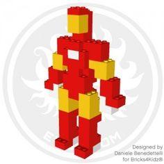 Iron Man model made with LEGO bricks Bloc Lego, Lego Creationary, Lego Craft, Lego Man, Legos, Easy Lego Creations, Lego Duplo Animals, Modele Lego, Lego Basic