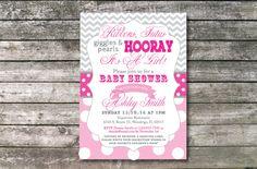 Adorable Baby Girl Shower Invite