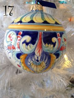 Ceramic Christmas Ornament  Made in Italy by ItalianDecorativeArt