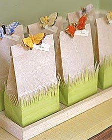 "Spring booking gift- cute cheap idea. ""Pick a date, pick a prize"" and have numbers for available dates in the bags"