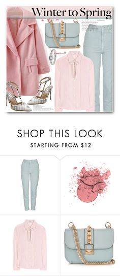 """""""Winter to Spring Street Style - Layers"""" by beebeely-look ❤ liked on Polyvore featuring Topshop, Miu Miu, Valentino, StreetStyle, heel, coat, sammydress and Wintertospring"""