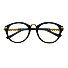 Vintage Retro Fashion Clear Lens Gold Round Eyeglasses Frames R2710
