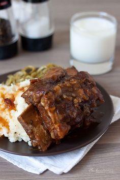 Luscious Bone-In Beef Short Ribs in the Pressure Cooker. Recipe via @Pressure Cooking Today #ribs #pressurecooker