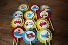 Transportation / Vehicle Themed Cupcake by AddSomeCharmBoutique