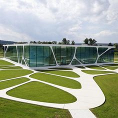 Leonardo Glass Cube is a glass-fronted brand pavilion in Bad Driburg, Germany designed by 3Deluxe .