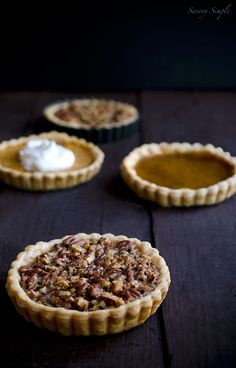 Thanksgiving pecan pie tarts  from  Savory Simple