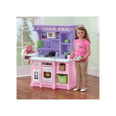 KidKraft Vintage Wooden Play Kitchen in Pink - Walmart.com | Wood ...