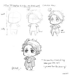 HOW TO DRAW CHIBI (holmes chibi ver.) great tutorial, includes HOW TO DRAW EYES as well :)