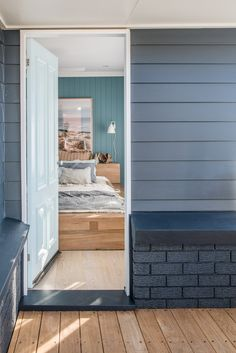 From Brick Box to Timeless Beach House - House Nerd Beach House Colors, Beach House Decor, Surf Shack, Beach Shack, House Paint Exterior, Exterior House Colors, Beach Bungalow Exterior, Small Beach Houses, House Cladding
