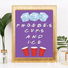 Friends themed party friends tv show friends quote ice bar sign friends bridal shower friends show friends themed shower party Graduation Party Themes, 30th Birthday Parties, Birthday Party Themes, 30 Birthday, Baseball Birthday, Baseball Party, Theme Parties, Birthday Ideas, Happy Birthday