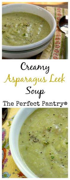 Make this creamy asparagus leek soup during asparagus season, or freeze it for a midwinter treat.