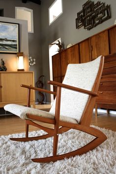 ... Mid Century Rocking Chair Lounge Chair  Awesome, Oak chairs and Snow