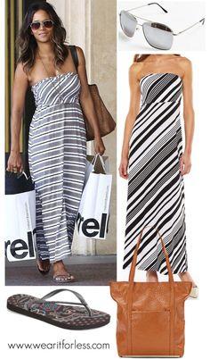 diagonal striped dress