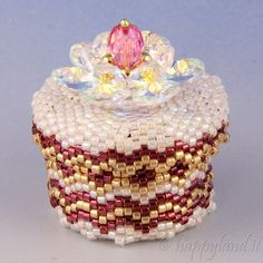 Beaded box n.6 by Happyland87 on Etsy