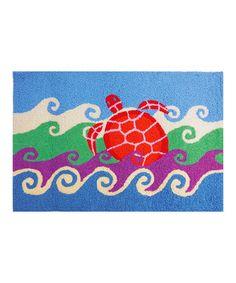 Love this Undersea Turtle Rug on #zulily! #zulilyfinds