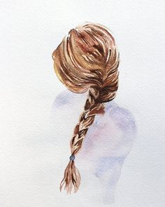 I want to master watercolor hair, it's harder than it looks