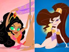 Esmeralda e Mégara - PinUps